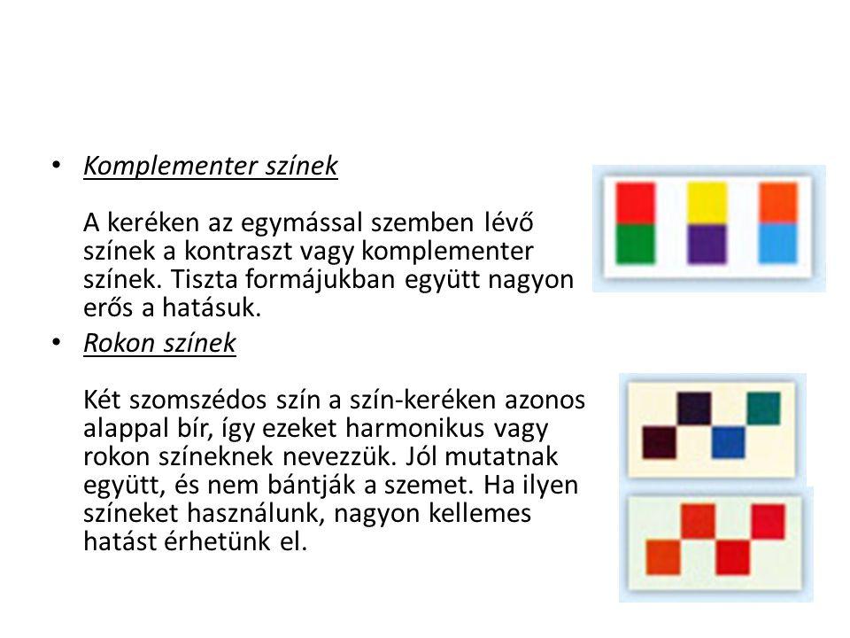 A színkeverés alaptípusai: Additív és a szubtraktív színkeverés Additív színrendszer (összegző): A különféle színű fénysugarak egyesítése során jön létre.