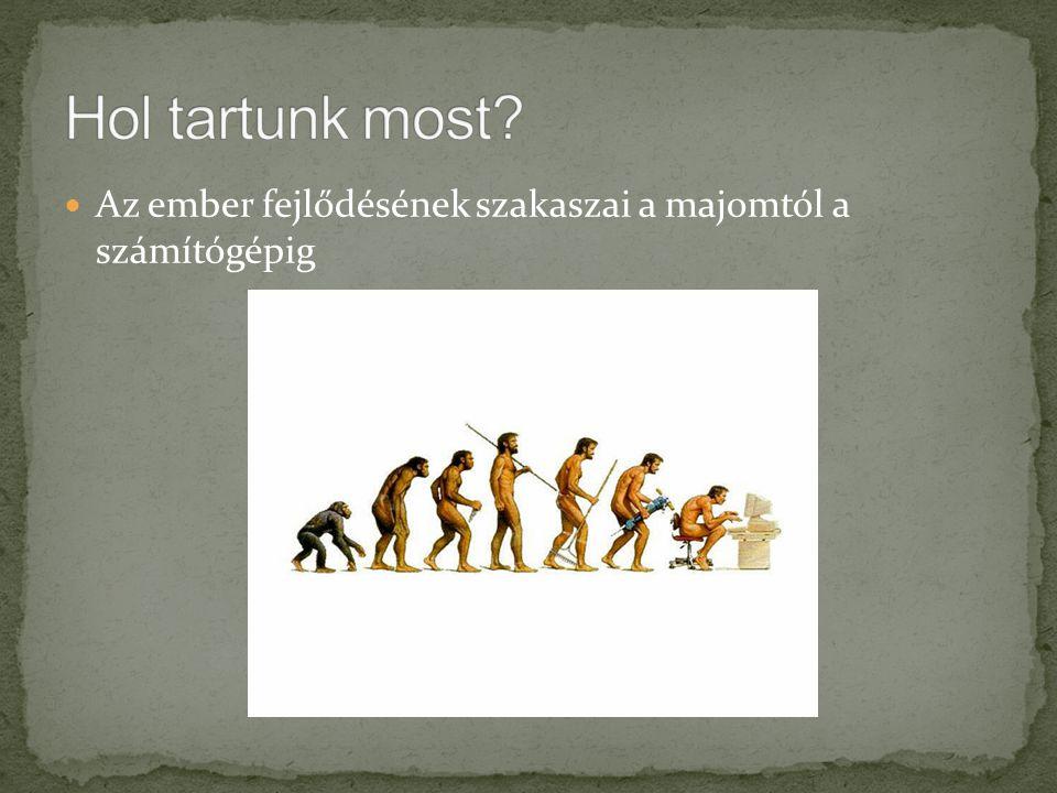 Az ember fejlődésének szakaszai a majomtól a számítógépig