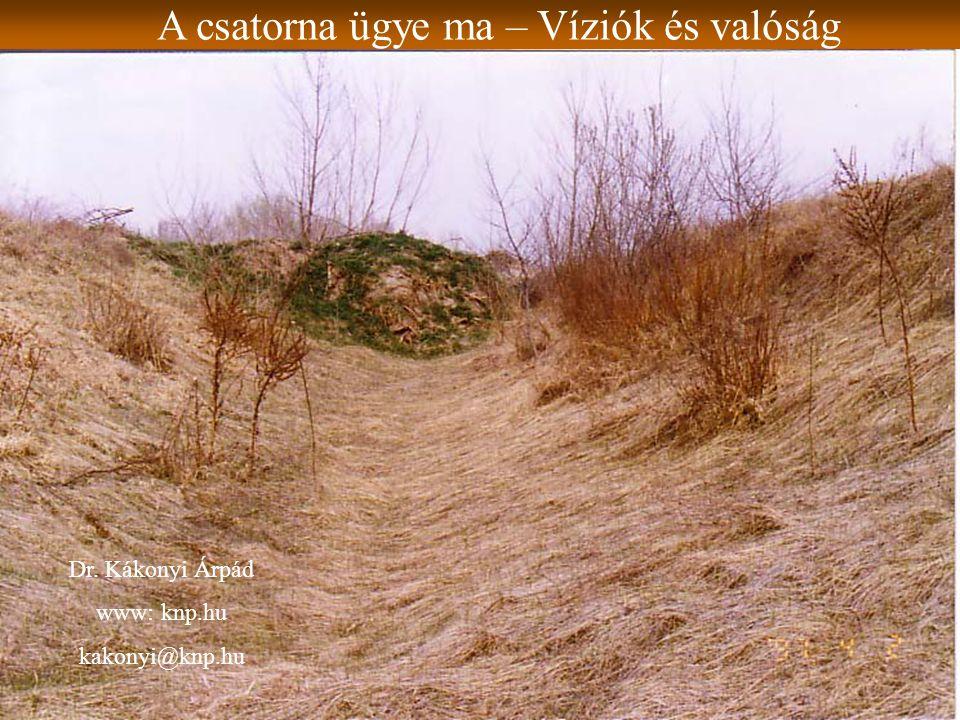 A csatorna ügye ma – Víziók és valóság Dr. Kákonyi Árpád www: knp.hu kakonyi@knp.hu