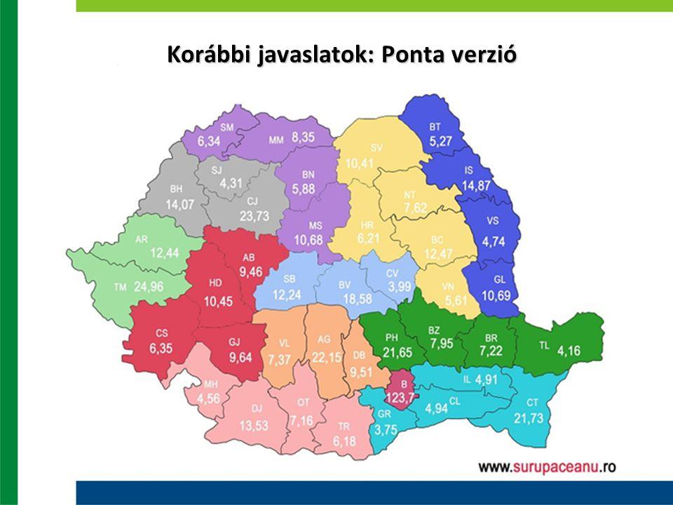 Korábbi javaslatok: Ponta verzió