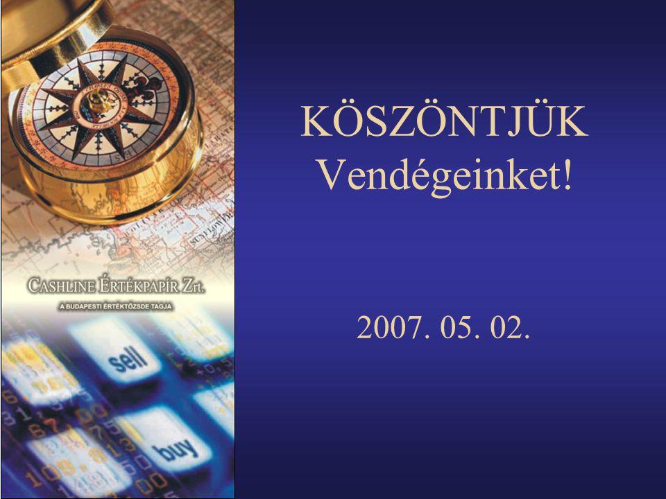 KÖSZÖNTJÜK Vendégeinket! 2007. 05. 02.