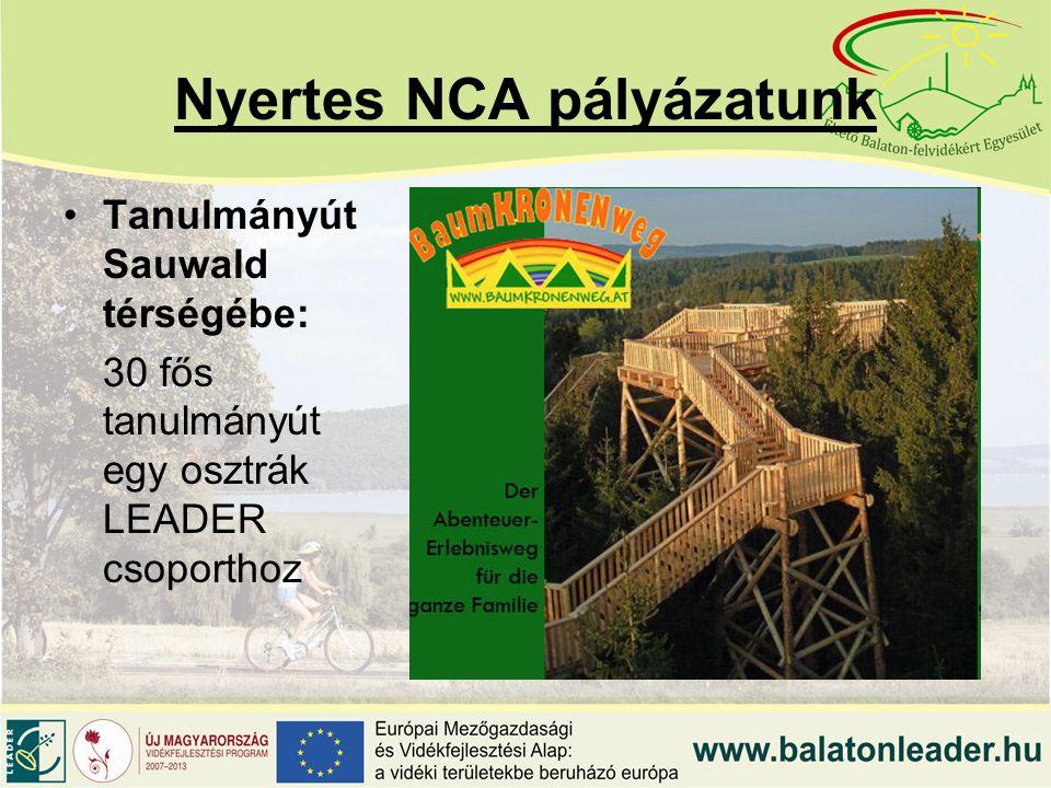 Nyertes NCA pályázatunk Tanulmányút Sauwald térségébe: 30 fős tanulmányút egy osztrák LEADER csoporthoz
