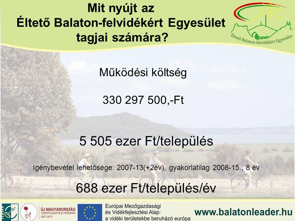 Mit nyújt az Éltető Balaton-felvidékért Egyesület tagjai számára.