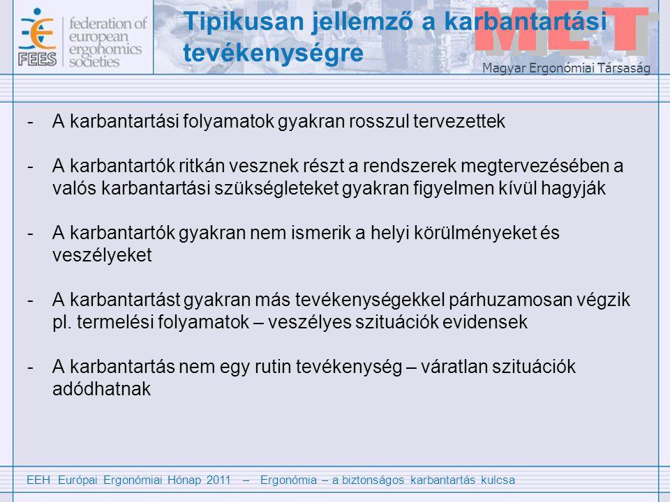 EEH Európai Ergonómiai Hónap 2011 – Ergonómia – a biztonságos karbantartás kulcsa Magyar Ergonómiai Társaság Mi az ergonómia.