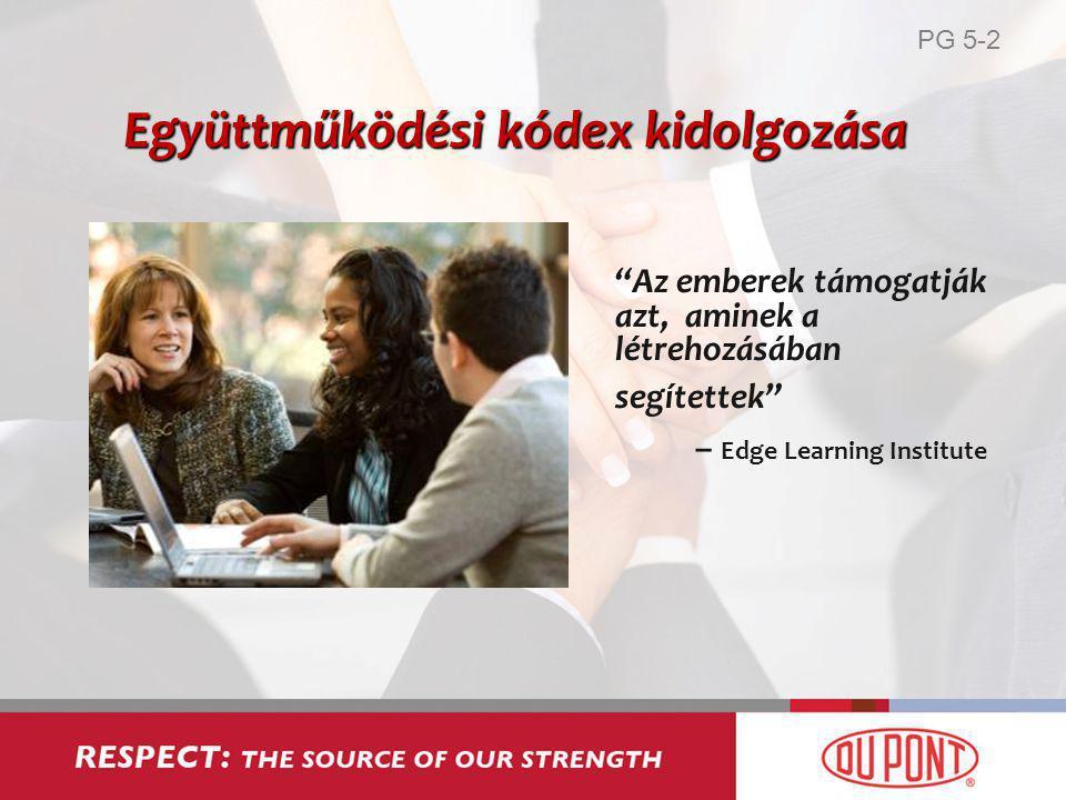 Az emberek támogatják azt, aminek a létrehozásában segítettek – Edge Learning Institute Együttműködési kódex kidolgozása PG 5-2