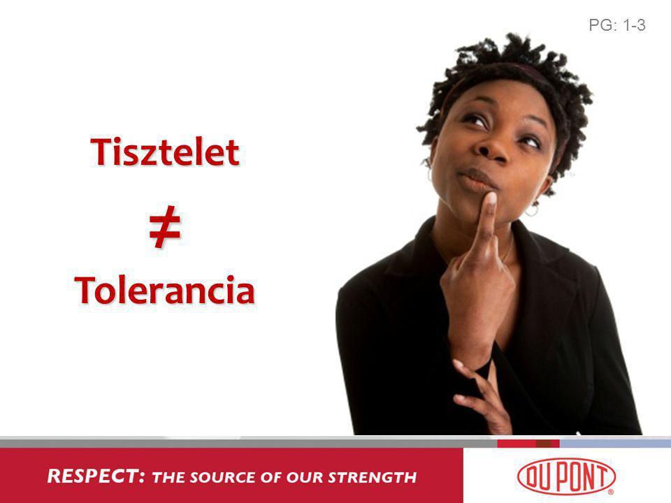 Tisztelet ≠ Tolerancia PG: 1-3