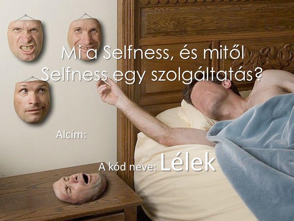 Mi a Selfness, és mitől Selfness egy szolgáltatás? Alcím: A kód neve: Lélek A kód neve: Lélek