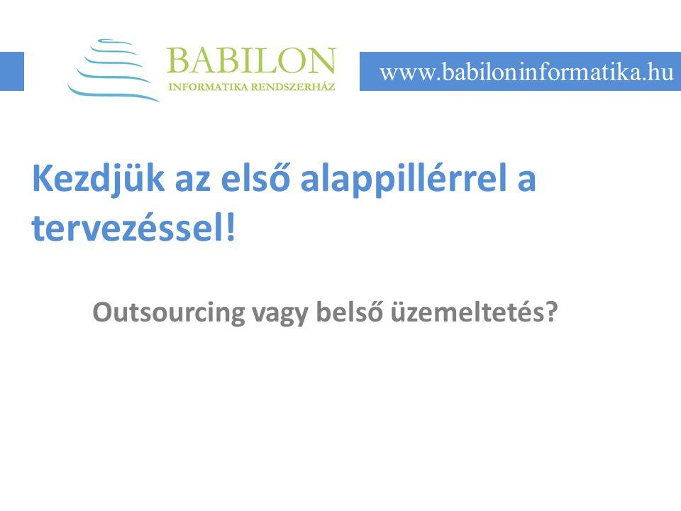 Kezdjük az első alappillérrel a tervezéssel. Outsourcing vagy belső üzemeltetés.