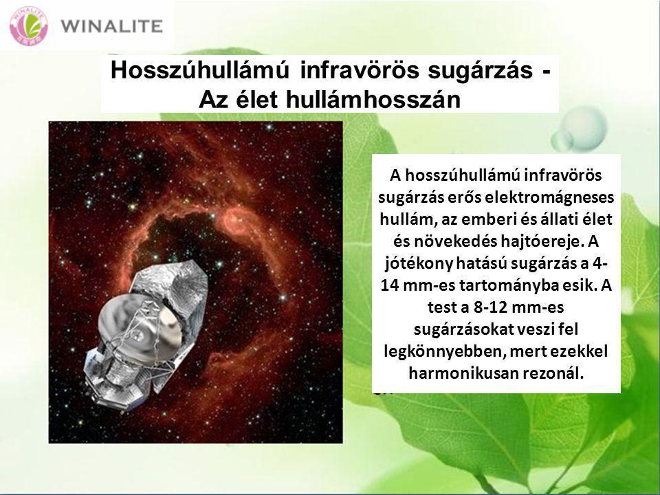 Hosszúhullámú infravörös sugárzás - Az élet hullámhosszán A hosszúhullámú infravörös sugárzás erős elektromágneses hullám, az emberi és állati élet és növekedés hajtóereje.