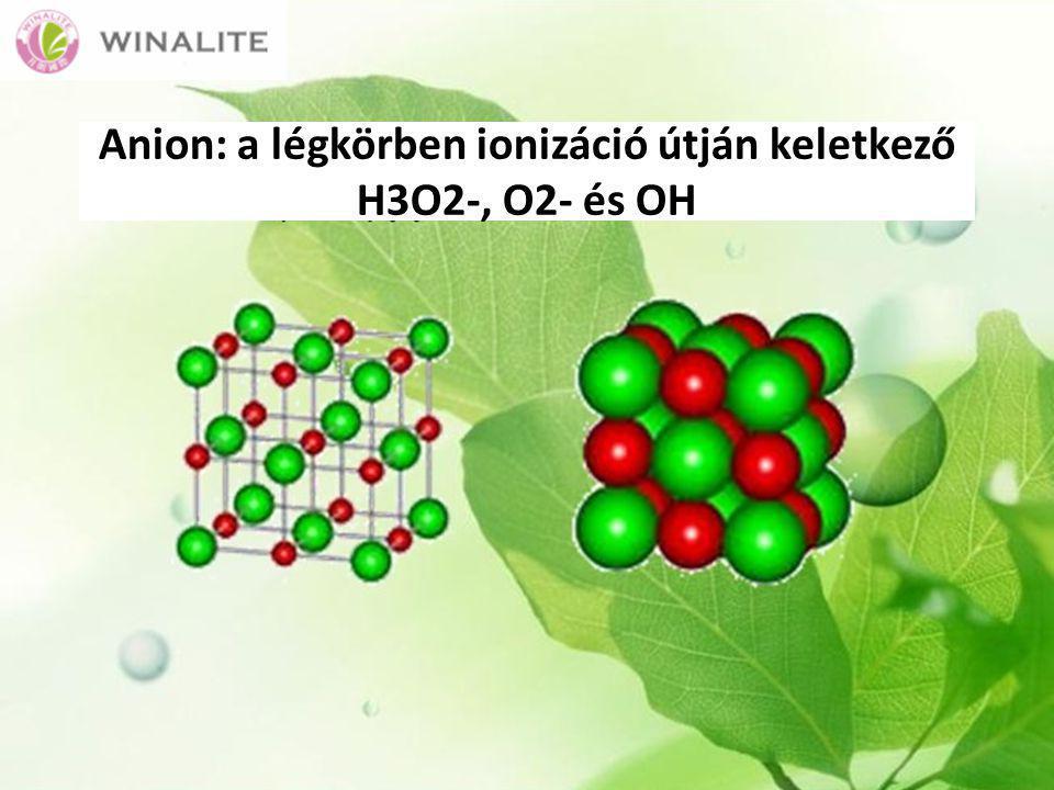 Anion: a légkörben ionizáció útján keletkező H3O2-, O2- és OH