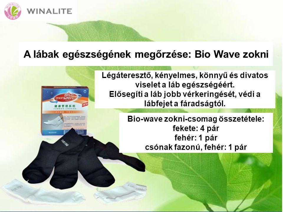 A lábak egészségének megőrzése: Bio Wave zokni Légáteresztő, kényelmes, könnyű és divatos viselet a láb egészségéért.