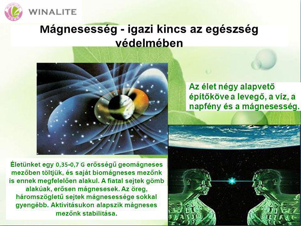 A modern orvostudomány felismerte a mágnesesség jelentőségét A mágnesesség képes enyhíteni a fájdalmat, csökkenteni a gyulladásokat, ezenkívül idegcsillapító és daganatcsökkentő hatású, és a keringési rendszerre is jó hatással van.