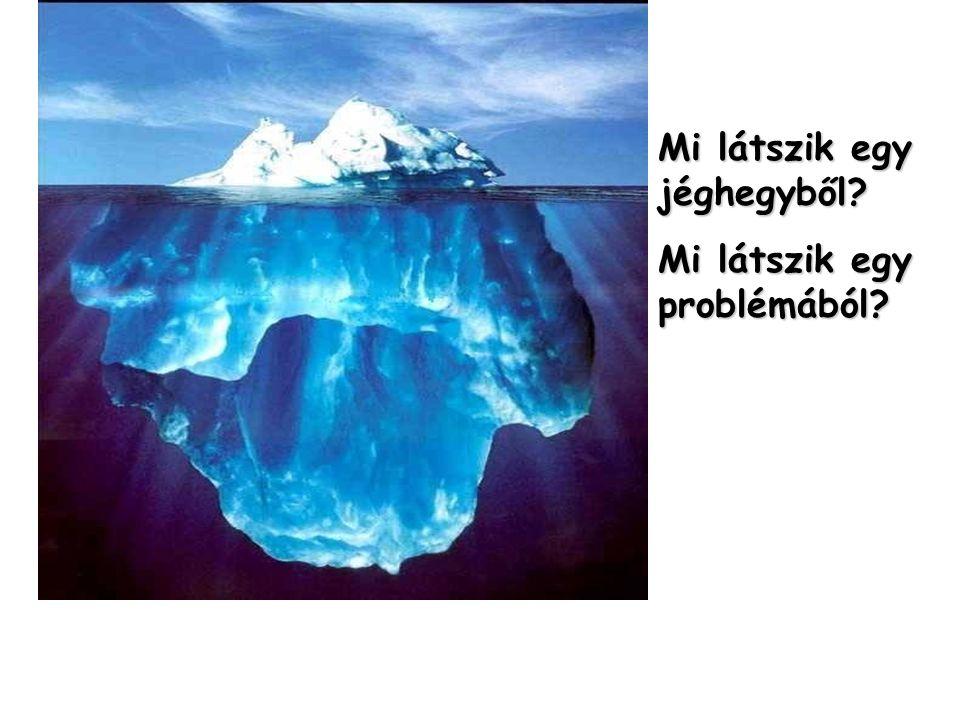 Mi látszik egy jéghegyből? Mi látszik egy problémából?