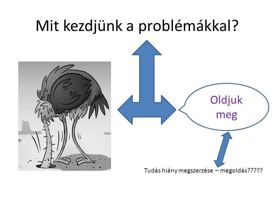 Mit kezdjünk a problémákkal? Oldjuk meg Tudás hiány megszerzése – megoldás?????