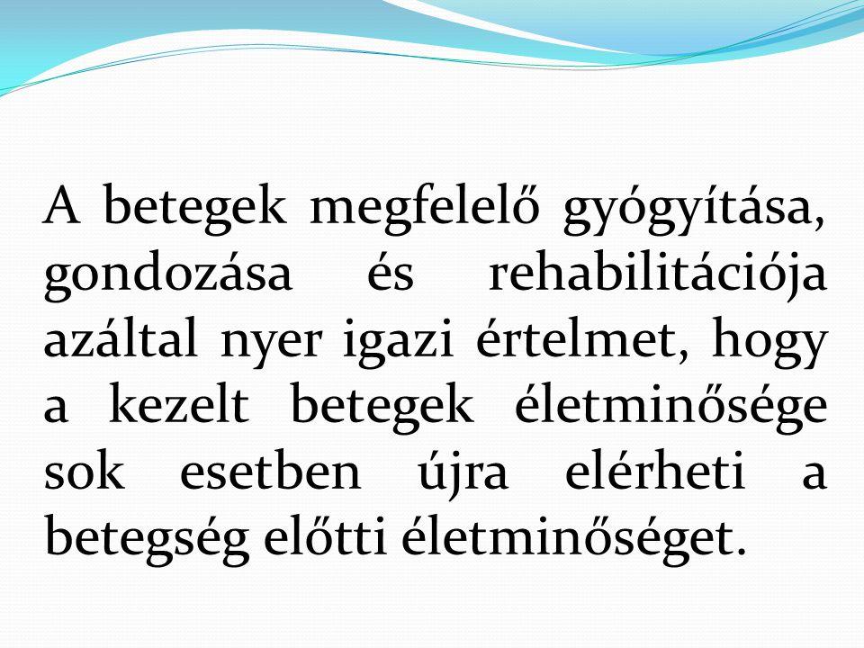 FOGYATÉKOSSÁGI folyamat (EVSZ 1980) Egészség Egészségtől eltérő állapotok: Károsodás ( impairment ) Fogyatékosság ( disability ) Rokkantság ( handicap )