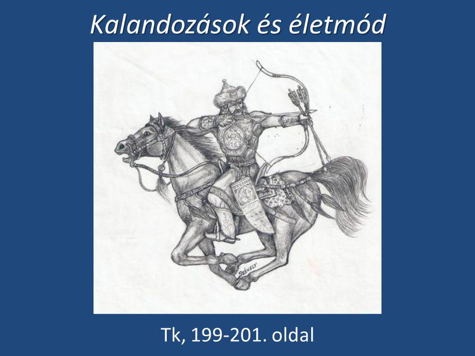 Kalandozások és életmód Tk, 199-201. oldal