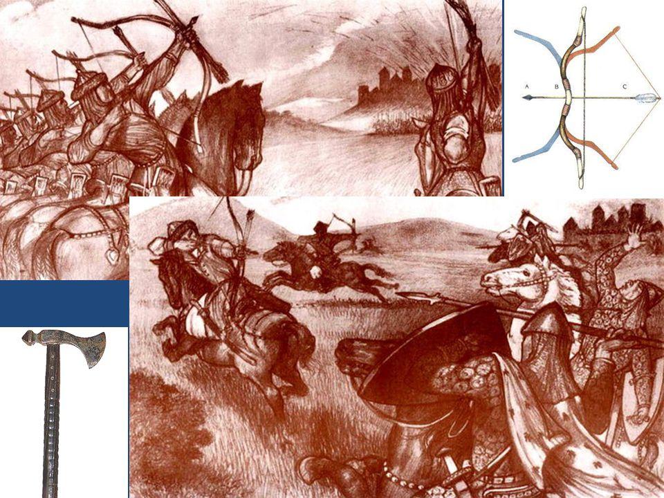 Társadalom honfoglalók számát 200-500 ezer közé tehetjük tudatos politika irányította a megtelepedést 904-től Árpád a nagyfejedelem törzsenként telepedtek le törzsenként telepedtek le és alakították ki saját törzsi településeiket hét törzs: Tarján, Jenő, Kér, Keszi, Nyék, Megyer, Kürtgyarmat hét vezér (Hétmagyar): Álmos, Előd, Ond, Kond, Tas, Huba, Töhötöm (Tétény) - törzsfők egy-egy országrész urai voltak kp-i település a Megyer törzsfő szállása volt a mai Csepel-sziget területén