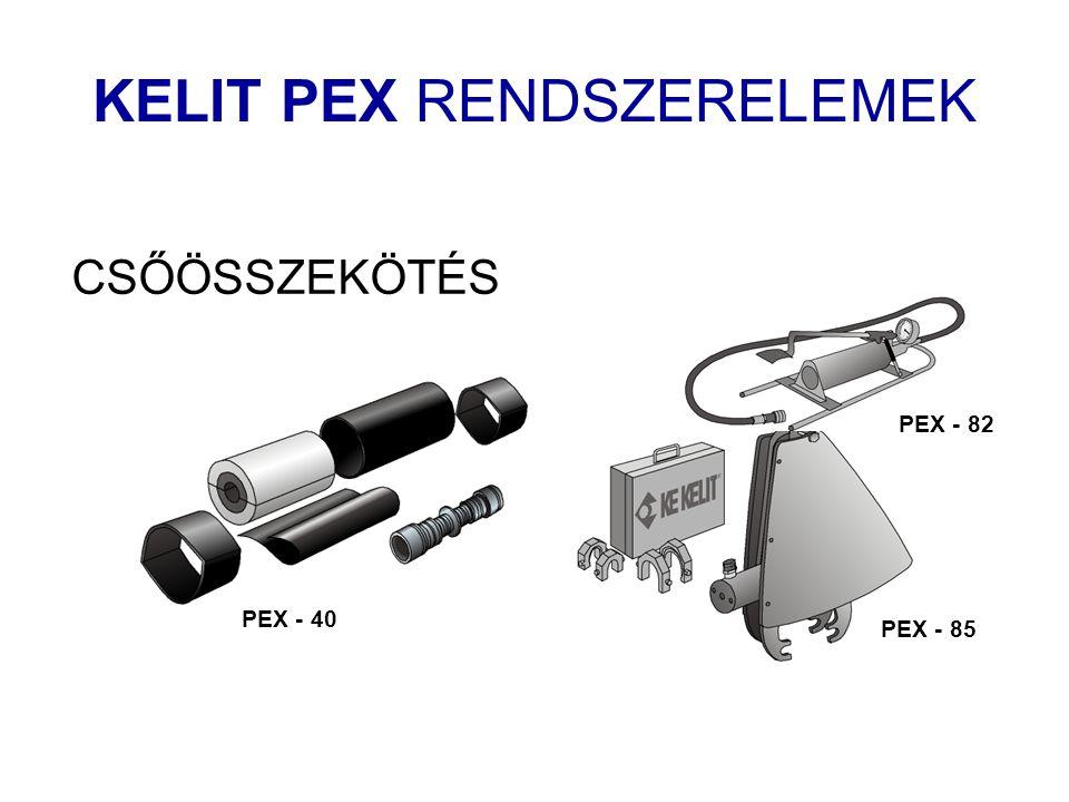 CSŐÖSSZEKÖTÉS PEX - 40 PEX - 82 PEX - 85