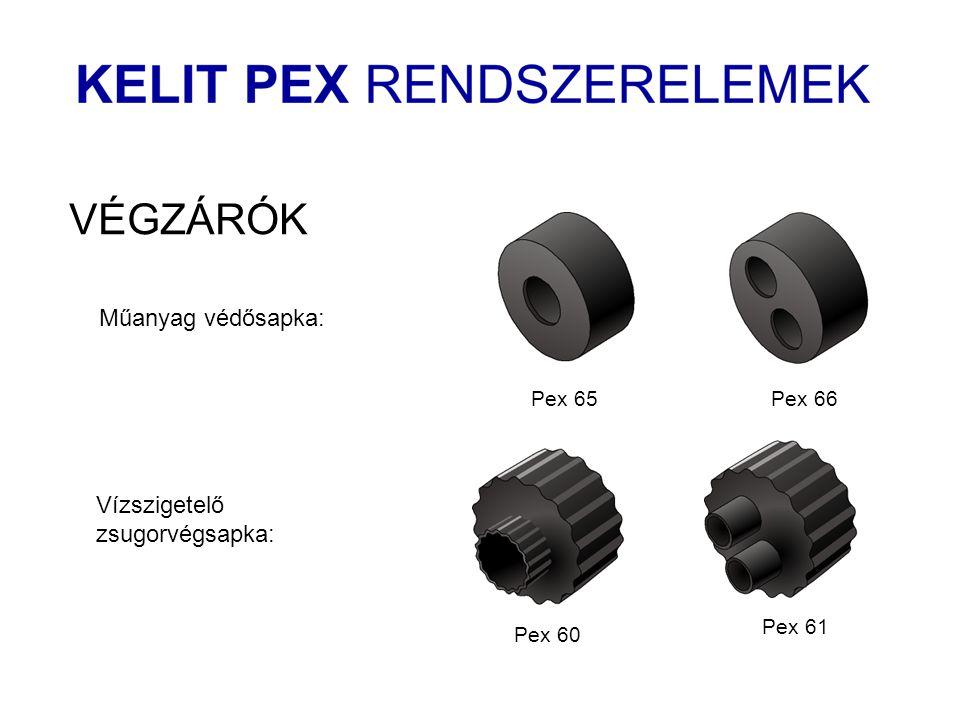 Pex 65Pex 66 VÉGZÁRÓK Műanyag védősapka: Pex 60 Pex 61 Vízszigetelő zsugorvégsapka:
