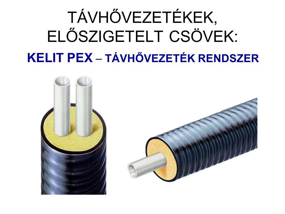 Haszoncső: PEXa 25 Ø – 160 Ø Hőszigetelés: félrugalmas PUR-HAB, zártcellás.