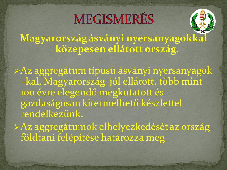 Magyarország ásványi nyersanyagokkal közepesen ellátott ország.
