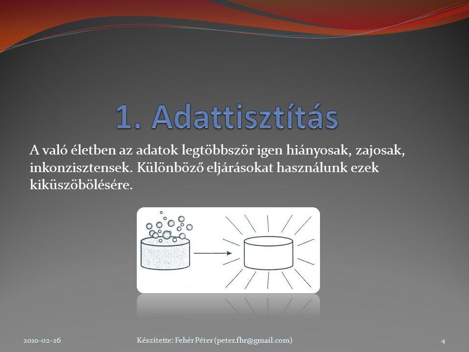 2010-02-26Készítette: Fehér Péter (peter.fhr@gmail.com)25 Mintavételezési technikák