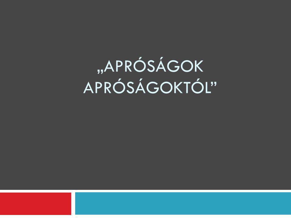 """""""APRÓSÁGOK APRÓSÁGOKTÓL"""