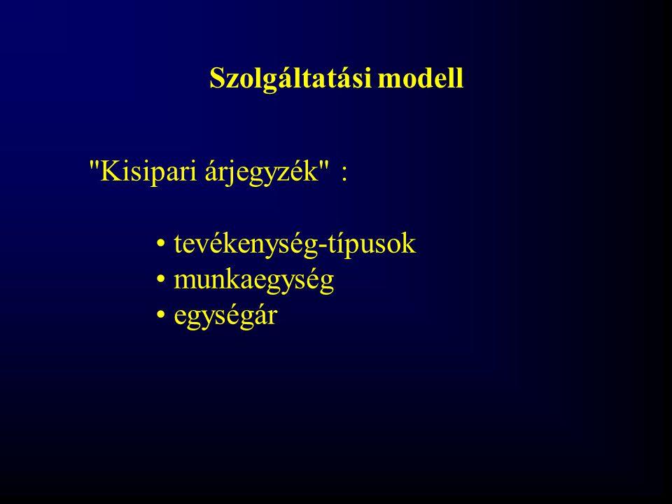Szolgáltatási modell