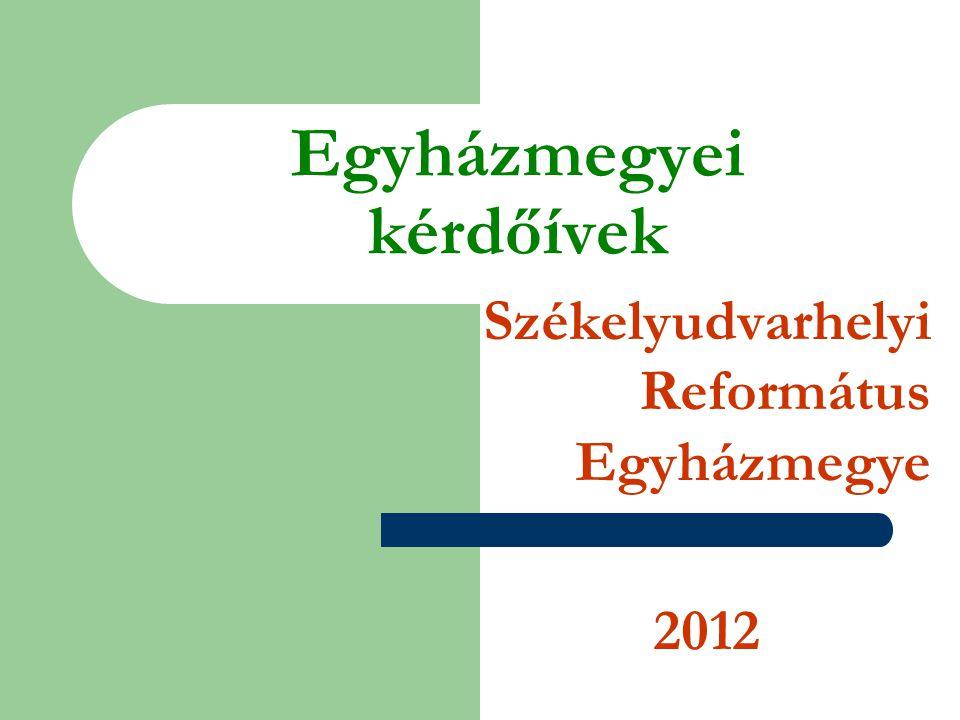 Egyházmegyei kérdőívek Székelyudvarhelyi Református Egyházmegye 2012