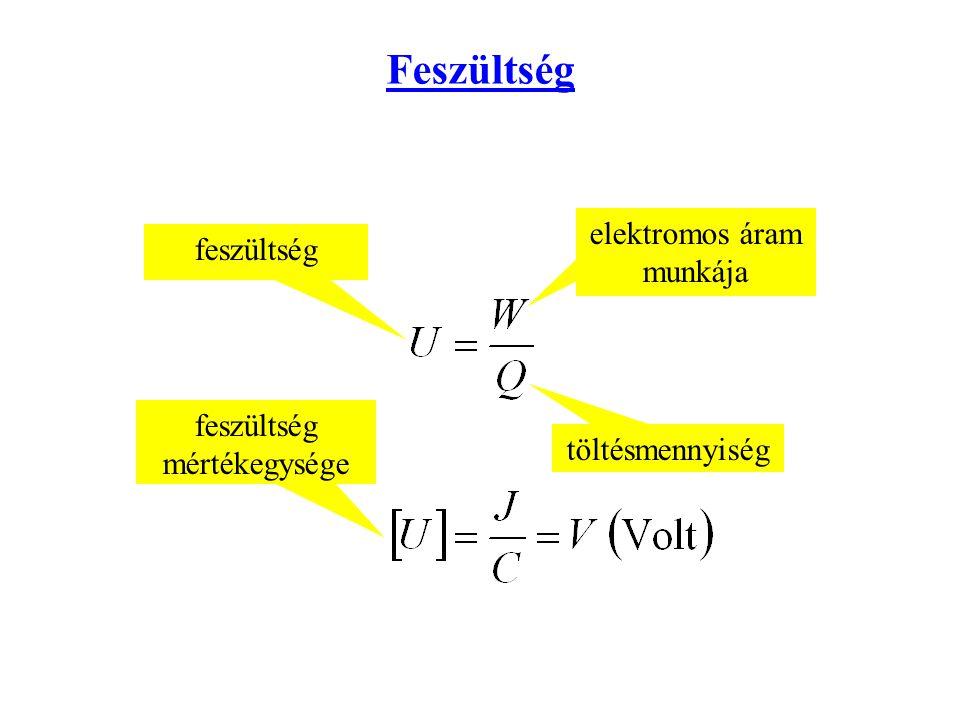 Feszültség feszültség elektromos áram munkája töltésmennyiség feszültség mértékegysége