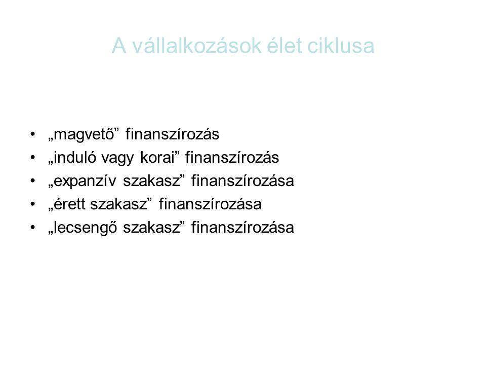 A befektető hozamigénye A befektetéssel finanszírozott ügylet sikere a hozammal mérhető HozamKockázat
