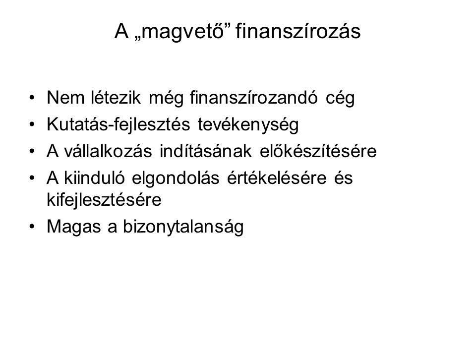 Befektetői megfontolások A, Kap 1 millió Ft-t B, Pénz feldobás alapján 0 vagy 2 mFt-t kap C, Pénz feldobás alapján 1 mFt-t fizet vagy 3 mFt-t kap Melyiket választaná?