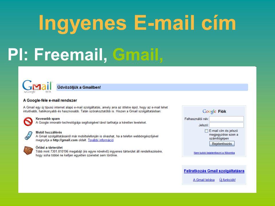 Ingyenes E-mail cím Pl: Freemail, Gmail,