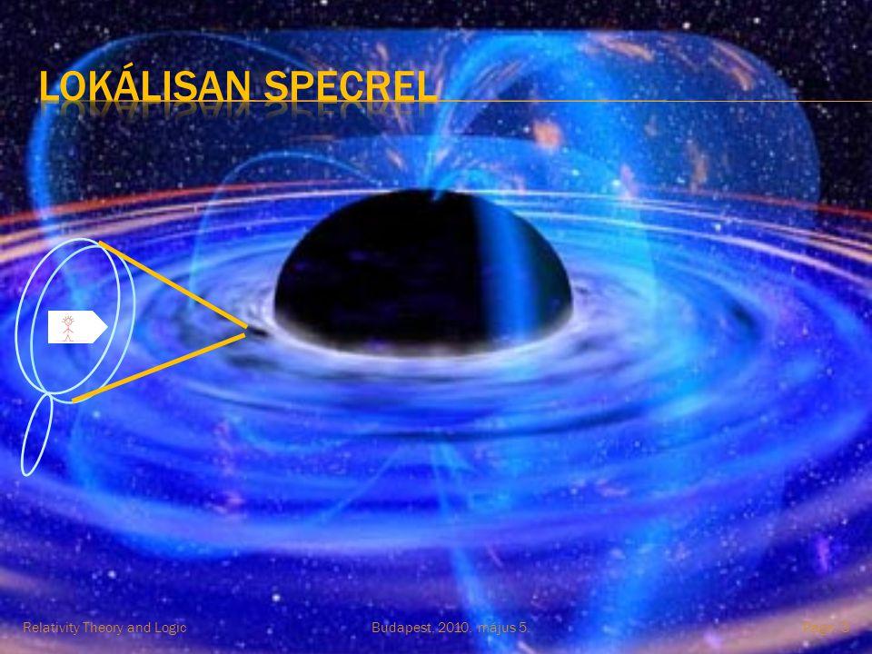 Relativity Theory and LogicPage: 3Budapest, 2010. május 5.