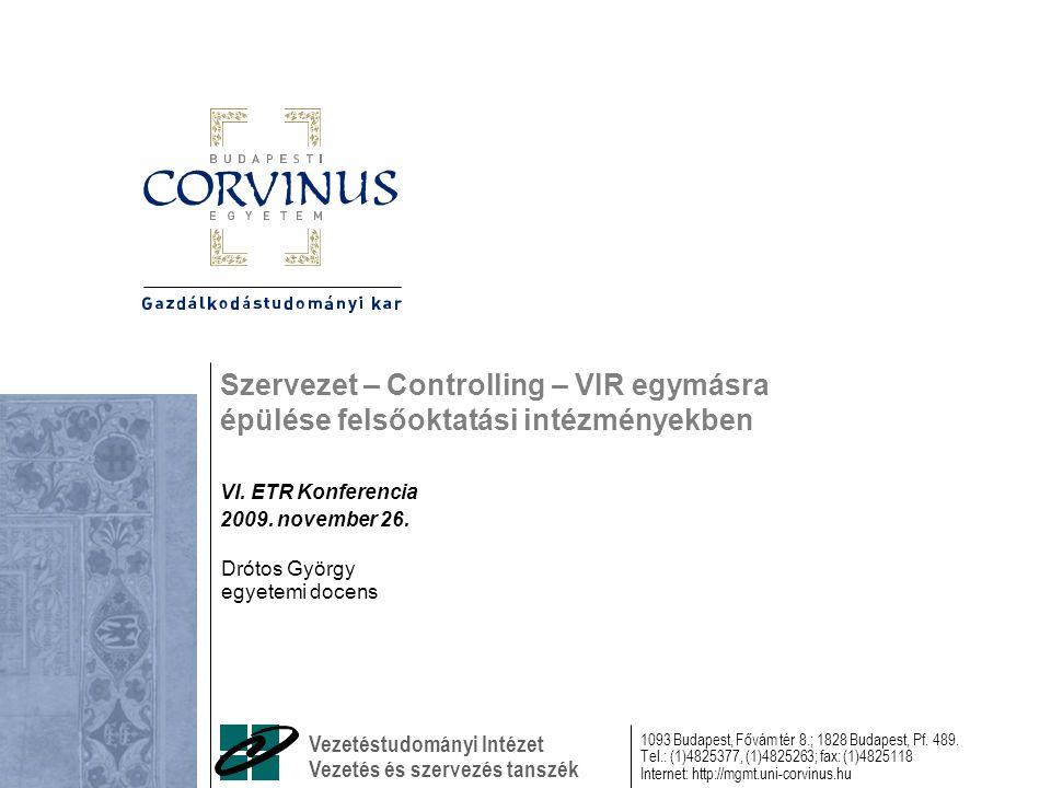 Drótos GyörgyVI.ETR Konferencia – Szervezet - controlling - VIR2.