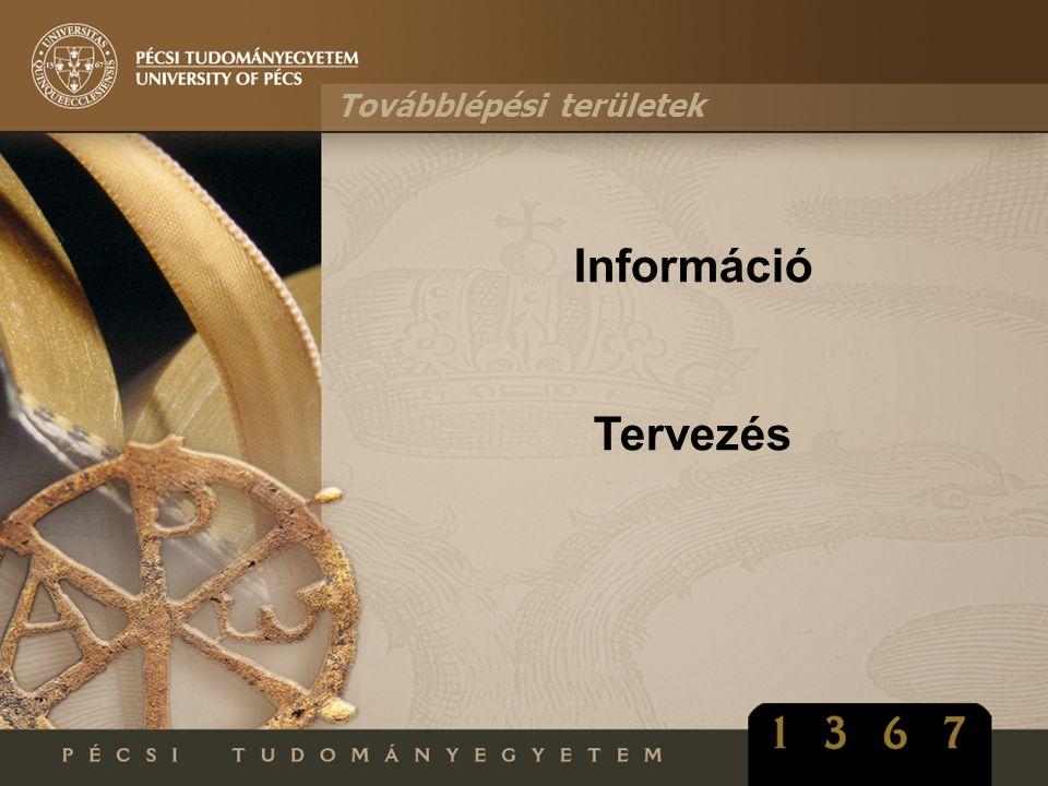Továbblépési területek Információ Tervezés
