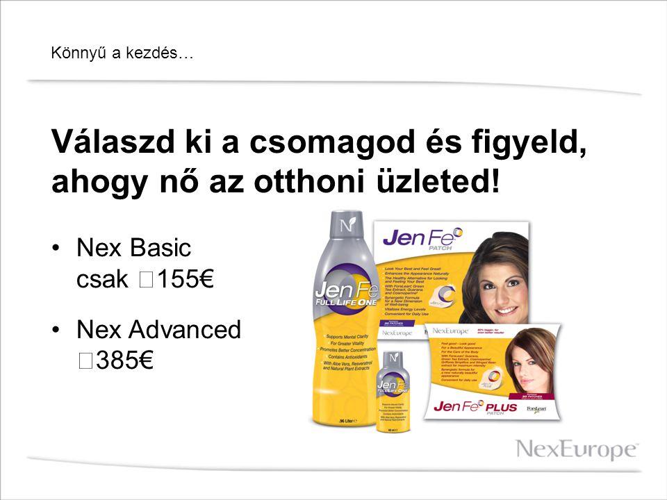 Válaszd ki a csomagod és figyeld, ahogy nő az otthoni üzleted! Nex Basic csak 155€ Nex Advanced 385€ Könnyű a kezdés…