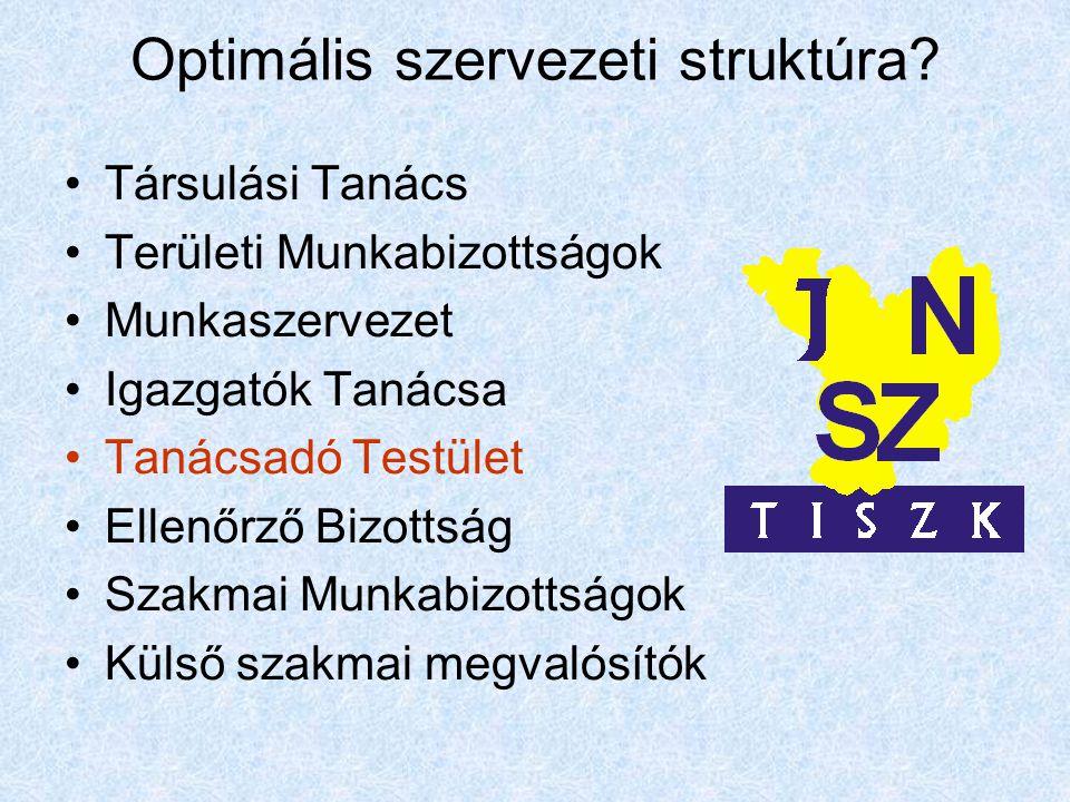Optimális szervezeti struktúra.