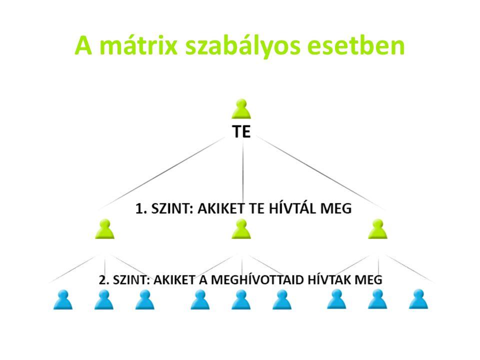 A mátrix szabályos esetben