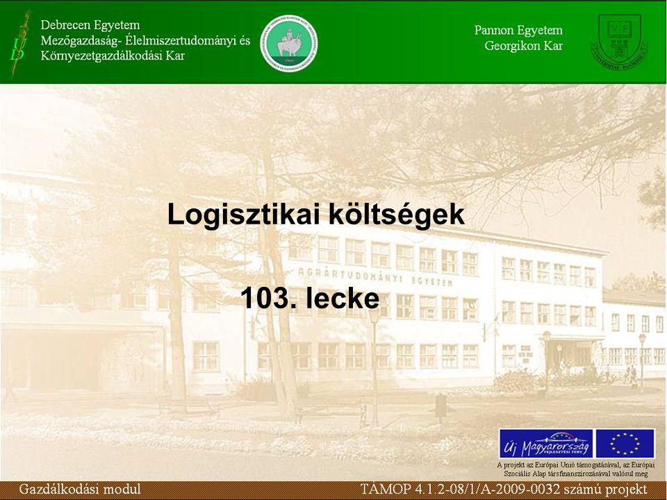 Logisztikai költségek 103. lecke