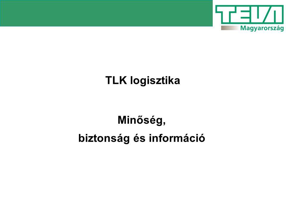 TLK logisztika Minőség, biztonság és információ