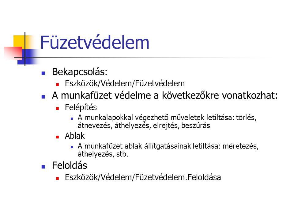 Megjegyzések Létrehozás: Beszúrás/Megjegyzés Módosítás: Beszúrás/Megjegyzés szerkesztése Törlés: Szerkesztés/Tartalom törlése/Megjegyzéseket