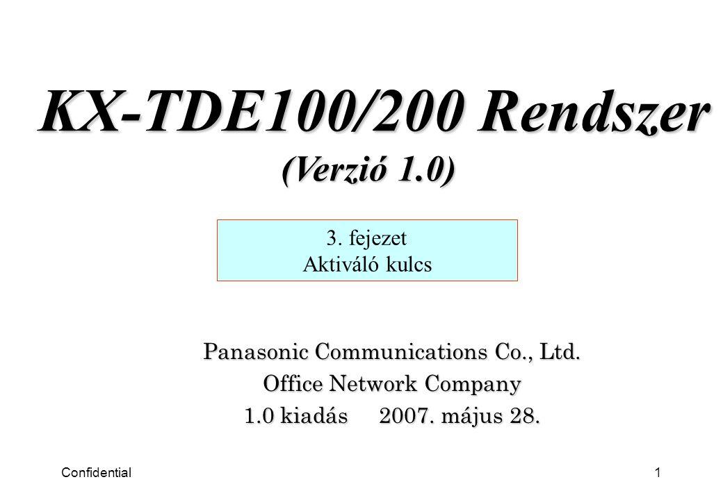 Confidential2 3.fejezet Aktiváló kulcs 1. 1. Aktiváló kulcs kártya kereskedelem 2.