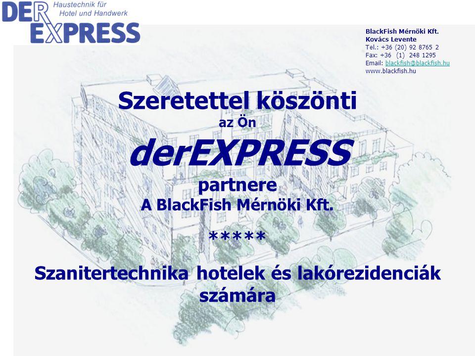 1 Szeretettel köszönti az Ön derEXPRESS partnere A BlackFish Mérnöki Kft.