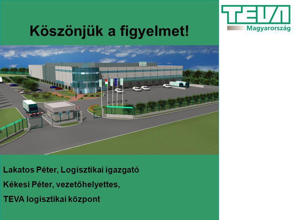 Köszönjük a figyelmet! Lakatos Péter, Logisztikai igazgató Kékesi Péter, vezetőhelyettes, TEVA logisztikai központ