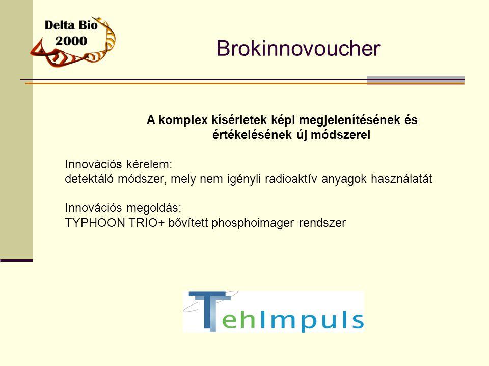 Brokinnovoucher A komplex kísérletek képi megjelenítésének és értékelésének új módszerei Innovációs kérelem: detektáló módszer, mely nem igényli radio