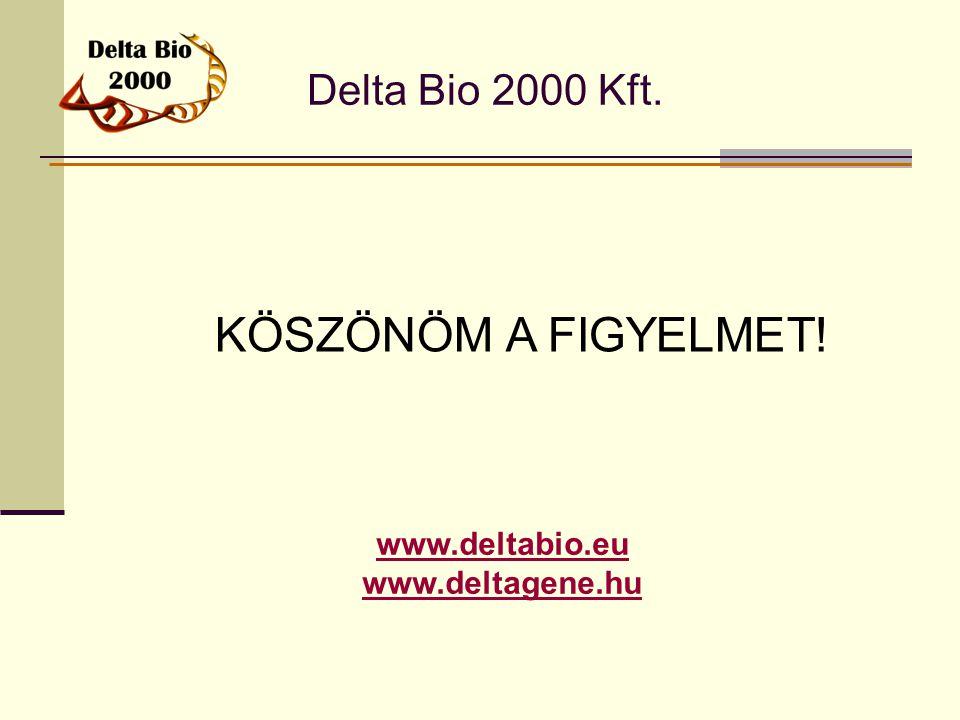 Delta Bio 2000 Kft. www.deltabio.eu www.deltagene.hu KÖSZÖNÖM A FIGYELMET!