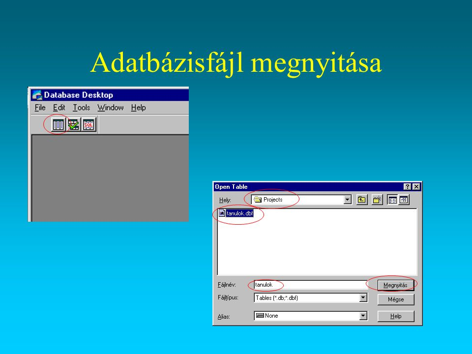 Az adatbázis feltöltése