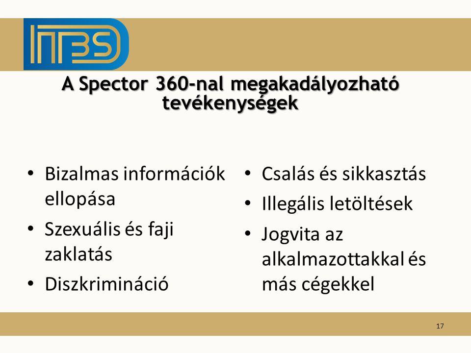 Bizalmas információk ellopása Szexuális és faji zaklatás Diszkrimináció Csalás és sikkasztás Illegális letöltések Jogvita az alkalmazottakkal és más c