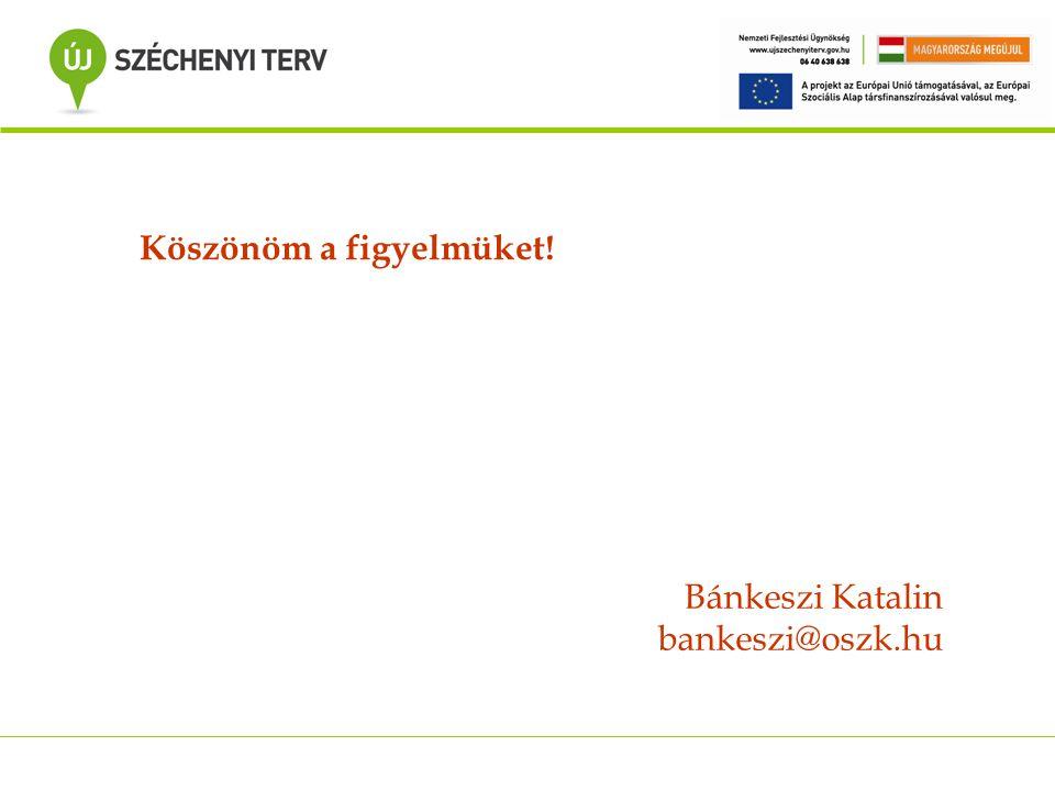Köszönöm a figyelmüket! Bánkeszi Katalin bankeszi@oszk.hu